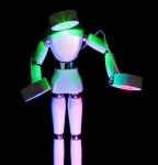 LED Lichtkunst-Figur.