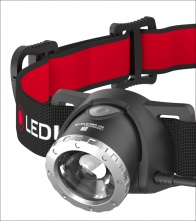 Stirn-Lampe LED Lenser H8R. Wiederaufladbar.