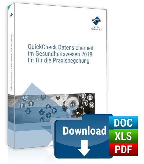 QuickCheck Datensicherheit im Gesundheitswesen: Fit für die Praxisbegehung